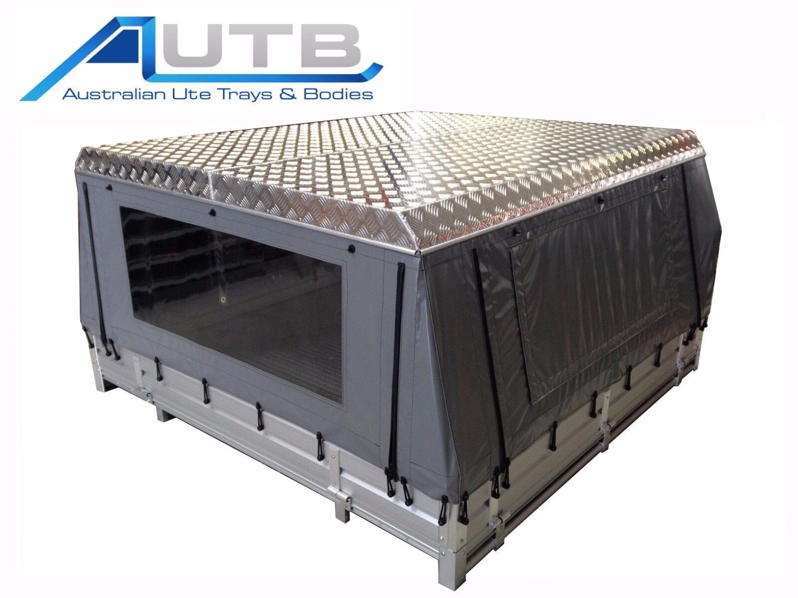 Aluminium Ute Canvas Canopy Hard Roof Checkerplate