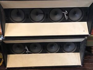 Fender tower speaker cabinets !MUST GO TODAY!