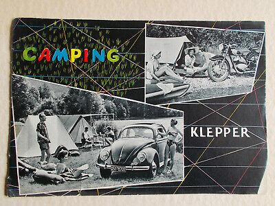 Klepper Kataloge Camping m. VW Käfer und DKW Wetterschutzkleidung groß Konvolut gebraucht kaufen  Essen