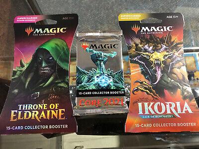 MTG Ikoria - Throne of Eldraine & Core 2021 Collectors Booster Packs Lot !