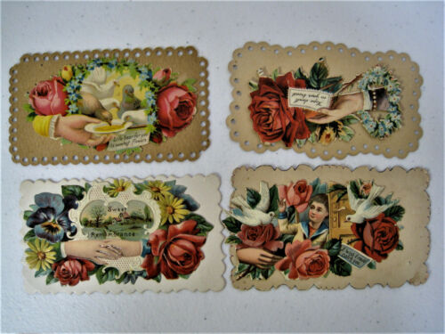 Lot of 12 Victorian Sympathy Cards