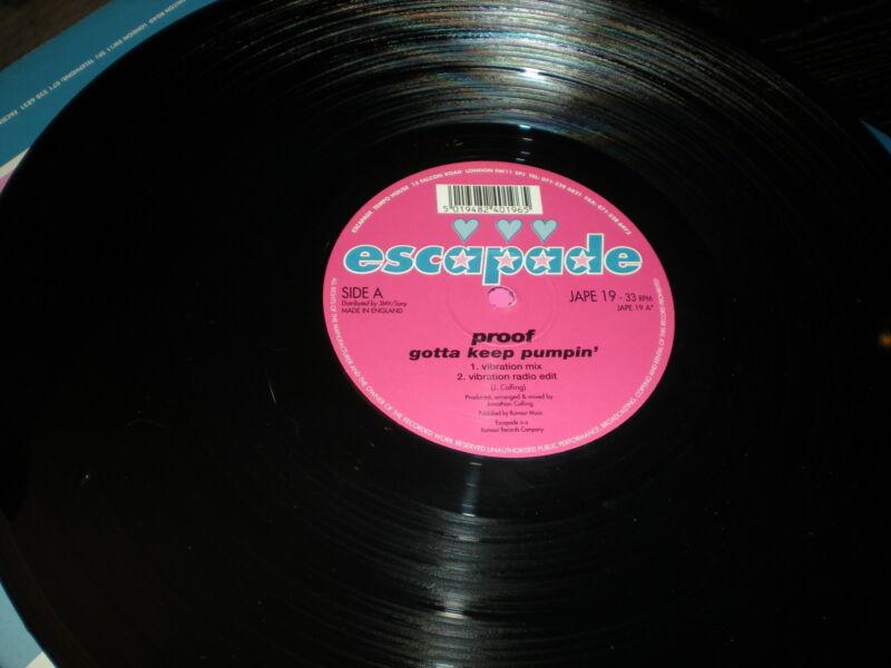 Proof Gotta Keep Pumpin' VINYL Vibration Mix Platinum Vibe Good Groove