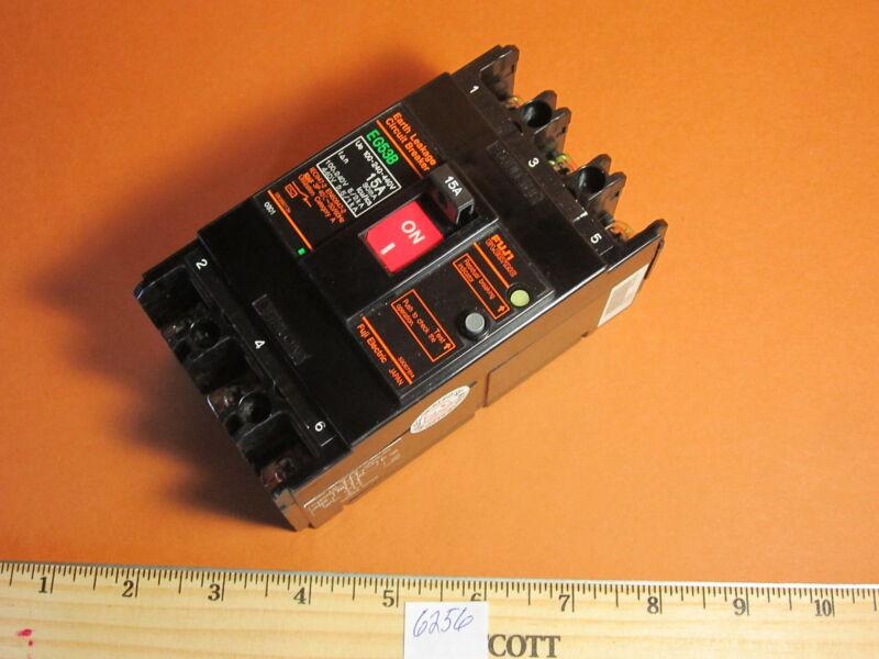 Fuji New EG53B 15 Amp 3 Pole 440V Earth Leakage Circuit Breaker EG New With Lugs