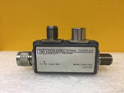 Hp Agilent 797d 1.9 To 4.1 Ghz 1.15 1.25 Swr N M-f Directional Coupler