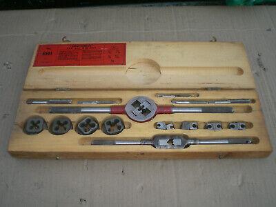 Vintage Craftsman Tap And Die Set In Wood Box 5501