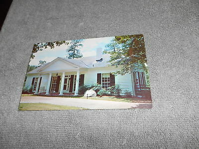 ( L ) POST CARD - THE LITTLE WHITE HOUSE WARM SPRINGS GEORGIA