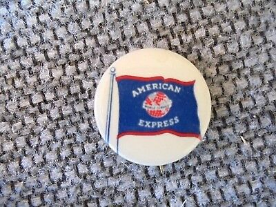 Vintage American Express Freight Service   Financial Service Advertising Pinback