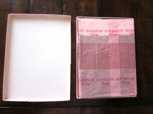 Vintage MARVLUS Cinnamon Style 118 Nylon 3 Pair Stockings Hosiery Size 9.5 NEW