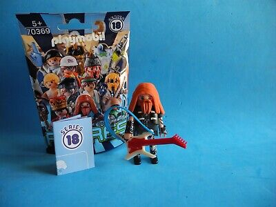 Playmobil Figures series 18 Rockero con guitara electrica Heavy Metal 70369