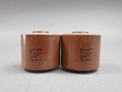 Lot Of 2 Tdk Uhv-10a 561k 50kv High Voltage Doorknob Capacitor