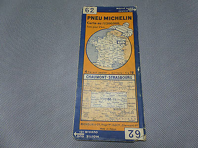Card Michelin No 62 Chaumont-Strasbourg 1931/Collector Bibendum Vintage
