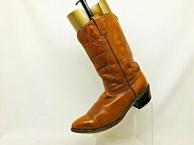 Acme Brown Leather Cowboy Western Boots Mens Size 12 D Style 41806 USA