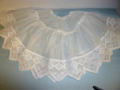 Puppen Unterrock antik Stil,  Petticoat Dessous Unterwäsche Länge: ca. 31 cm