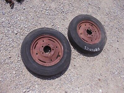 International Cub Or Low Boy Tractor 4.80 X 12 Front Tm Tires Ihc Ih Rim Rims