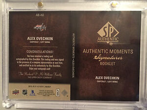 Alex Ovechkin Authentic Moments Signatures Booklet Hockey Card  Edmonton Edmonton Area image 2
