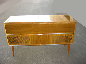 Vintage german grundig solid state stereo console model ks for Z furniture outlet santa ana
