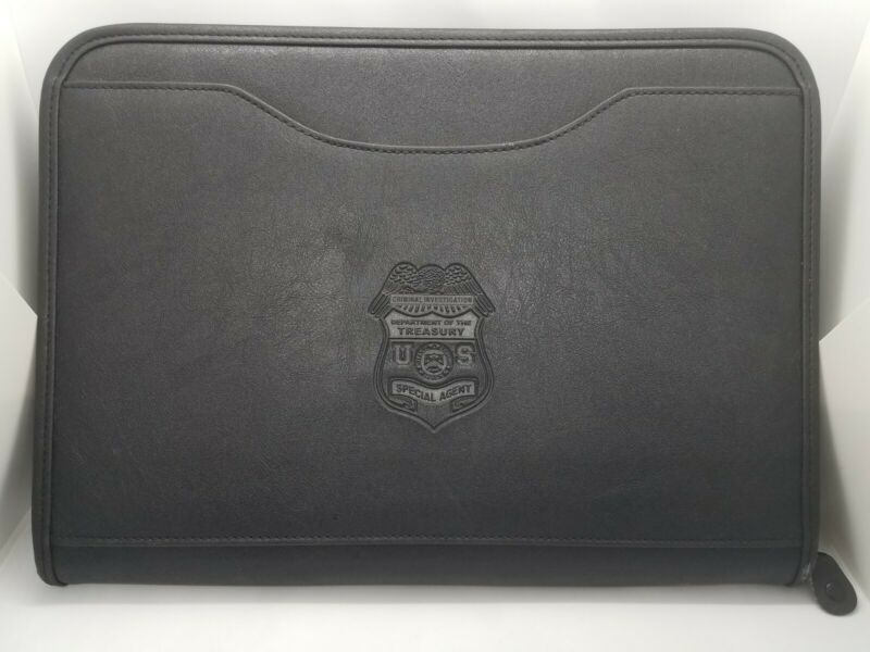 Vintage IRS Criminal Investigation Special Agent Leather Portfolio Gemline