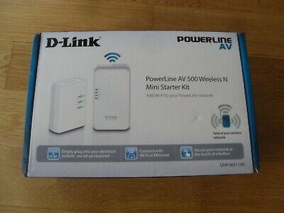 D-Link Powerline AV500 Wireless N Mini Starter Kit - DHP-W311AV - WiFi