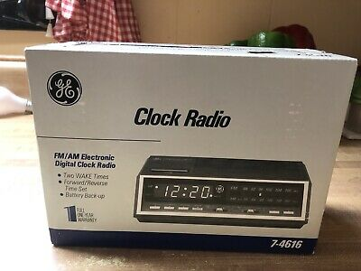GE Electronic 7-4616 FM/AM Electronic Digital Clock Radio New. Factory sealed