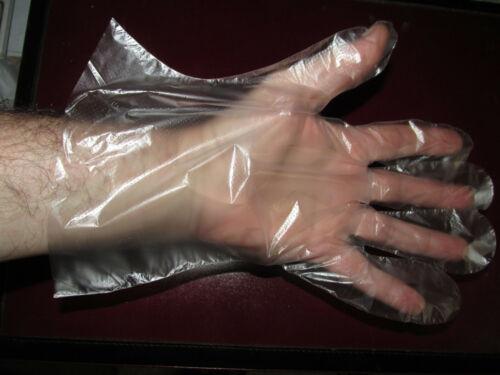 1000-PCS Plastic Clear Disposable Gloves