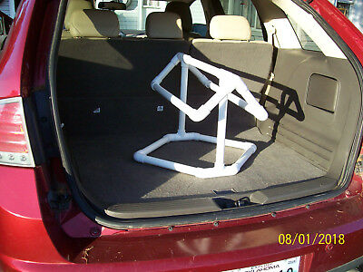 PVC Saddle Stand Rack Travel Size Car Suv Truck Horse Bridle Western Rodeo