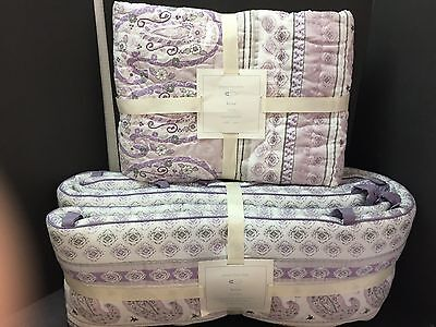 Pottery Barn Kids KEIRA Paisley QUILT + BUMPER Crib Toddler Baby Nursery Bed NEW