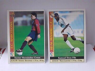 Cromo Rookie 2° Año Xavi Barcelona Etoo Eto'o Real Madrid Card New