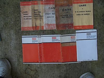 Lot Of 10 Case Farm Operator Manuals Cultivator Mower Harvester Disk Harrow R