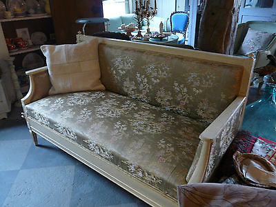 Louis XIV Bank antik mit Chinoiserie bench antique french style chinoise fabrics