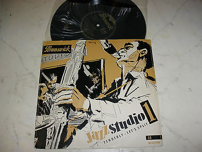 """10"""" JAZZ STUDIO 1 Tenderly /Let´s Split 1953 ORIGINAL BRUNSWICK"""
