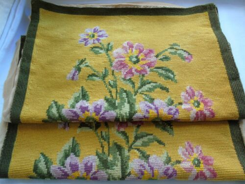 French 2 vintage cross stitch needlework embroidery lovely floral patterned