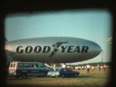 Super 8 8mm Movie Video Film Reel Mansfield Ohio Goodyear Blimp Black Wedding