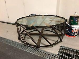 Glass outdoor coffee table Mosman Mosman Area Preview