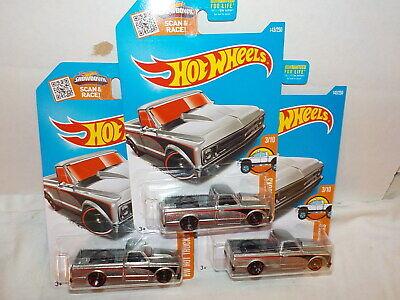Hot Wheels lot x3 Zamac 67 Chevy c10 pick up truck 2016 bin #10
