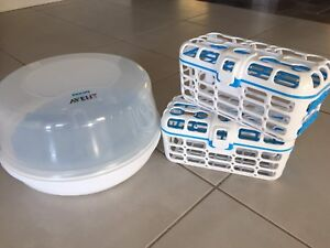 Microwave sterilizer and dishwasher baskets