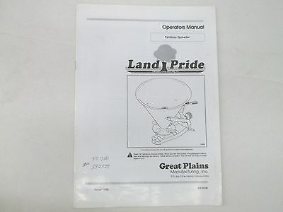 Great Plains Land Pride Model 309-500m Fertilizer Spreader Operators Manual