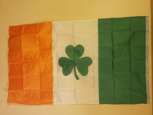Irish with four leaf clover 3 x 5 Flag #52