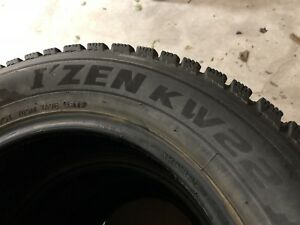 Winter Tires Pneu Hiver Kumho  185 65 R15 comme Neuf Like New