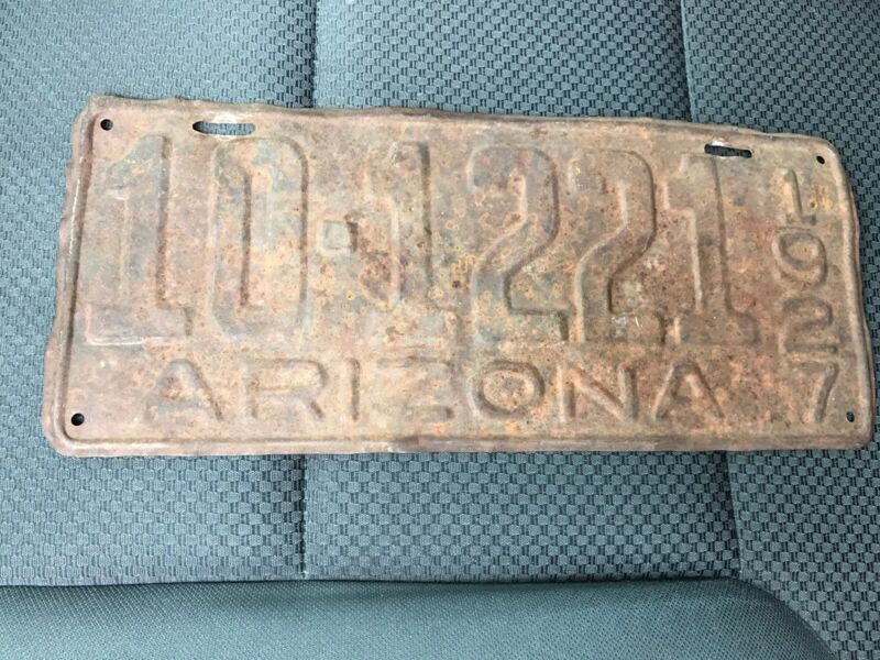 1927 Arizona License Plate 10 1221