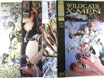 WILDCATS / X-MEN  Heft 1,2,3,4 von 4 komplett Buch/Presse ( Splitter ) NEU
