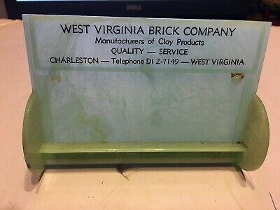 Vintage Business Card Holder West Virginia Brick Company Telephone DI 2-7149