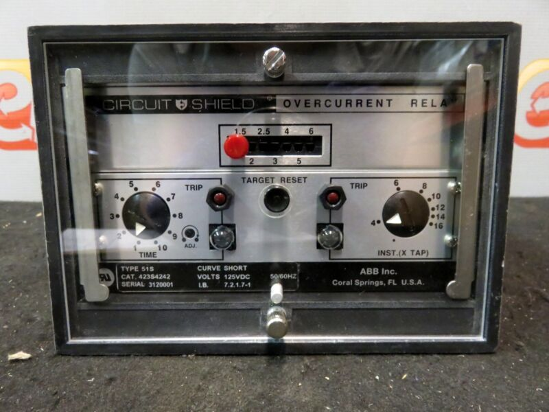 ABB Gould Brown Boveri Circuit Shield Overcurrent Relay 51S