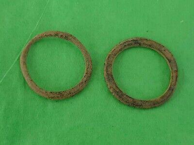 Lovely pair of Celtic bronze money rings. A must read description. L30p
