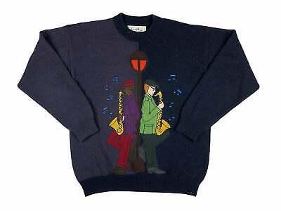 Vintage Jazz Sweater 80s JC de Castelbajac Wool Winter G10