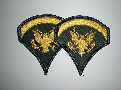 US ARMY SPEC 5 SPECIALIST 5 RANK VIETNAM ERA -1 PAIR