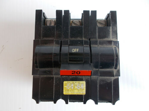 Federal Pacific 3P20 Circuit Breaker Stab-Lok 3 Pole New