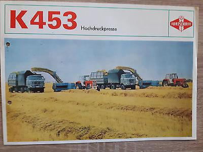 Original Prospekt Fortschritt K453