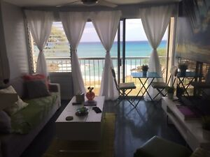 1 bed OCEAN FRONT Oahu Hawaii  1 month rental