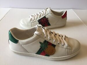 02d49fd339e Gucci Ace Embroidered Sneakers Women Size 37 AUTHENTIC