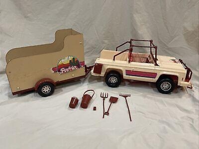 1973 Western Barbie Travelin' Trailer Jeep & Horse Trailer